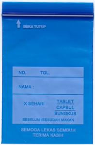 Plastik Obat : Kami menyediakan Plastik Klip, Ziplock Bag, Plastik HD, Plastik PP, Plastik Sampah, Plastik Cor, Plastik Bibit
